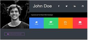 Online-Resume-Website-Desgning